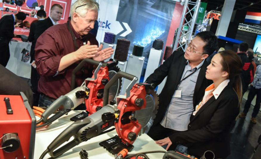 Chinese attendance to German trade fairs has doubled
